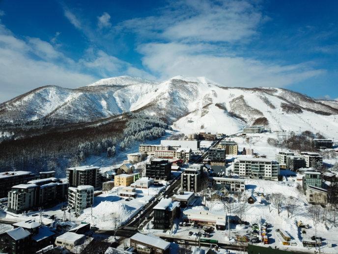 Drone Blue Skies Hirafu Village 01 11 18 8
