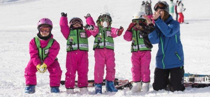 Go Snow 4 Pink Children Kids Ski Free March Crop