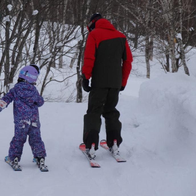 His Kids Ski Lesson With Core