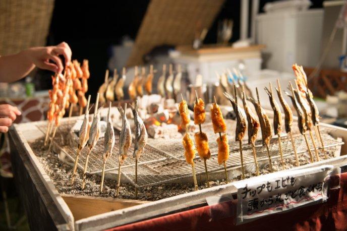 Hirafu Festival Matsuri 2017 Irori Robata Yaki Charcoal Grilled Fish