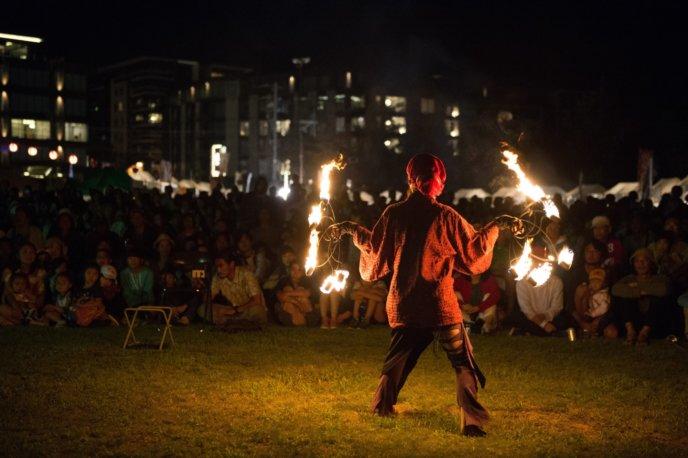 Hirafu Festival Matsuri 2017 Fire Dancer Performance Night 1