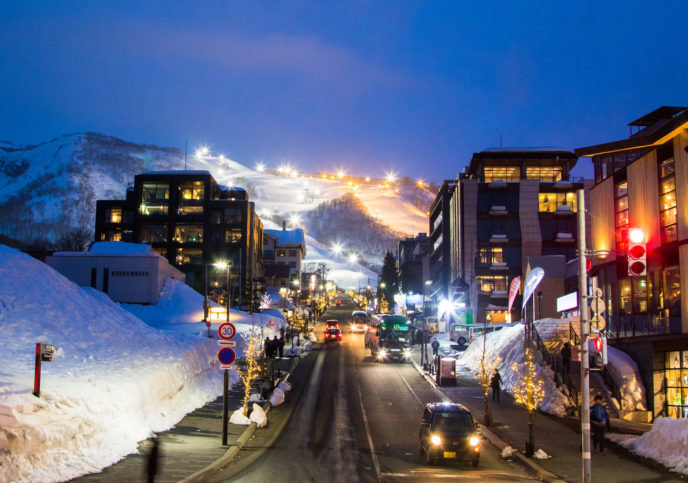 Hirafu Village Winter Night Low Res Edit