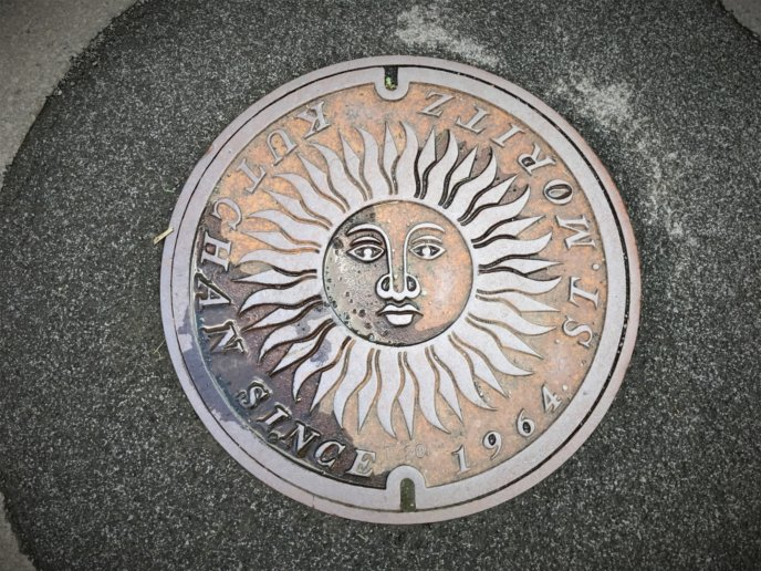 Kutchan Town St Moritz Sister Town Manhole Cover