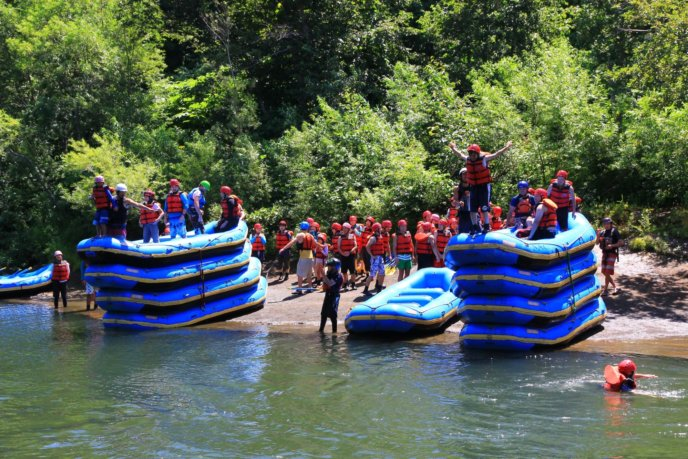 Nac Summer Raft Rafting Big Group 351