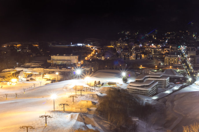 Night Skiing Hirafu Village 3