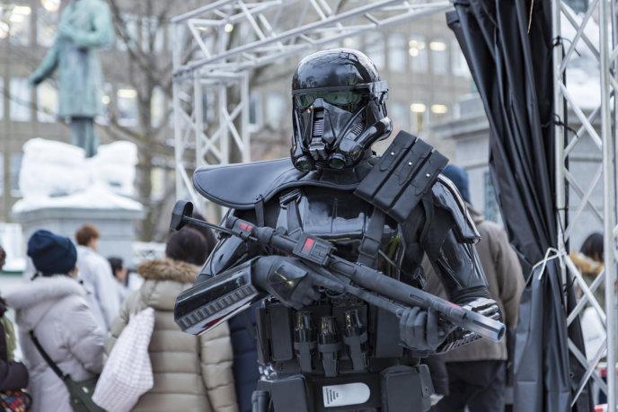 Snow Festival Sapporo Star Wars Statue Dark Trooper 2017 02 06 0106