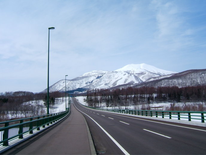 St Moritz Bridge And Mt Annupuri And Niseko Grand Hirafu Ski Resort