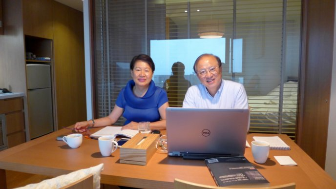 Tsung Chung Kao Studying With His Wife