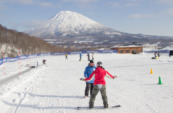 GoSnow private beginner area, Niseko