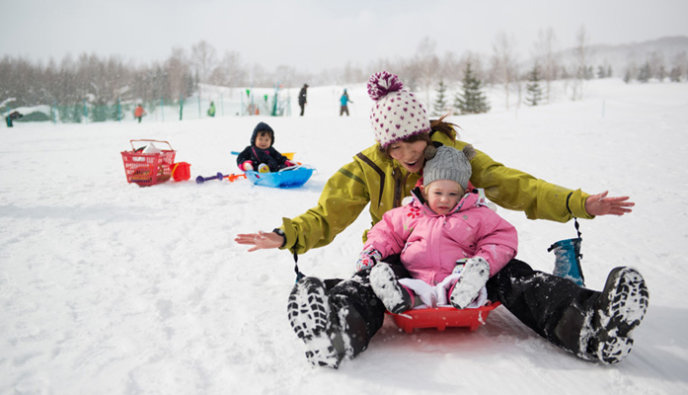 Mountain Niseko Kids Snow School Sledding