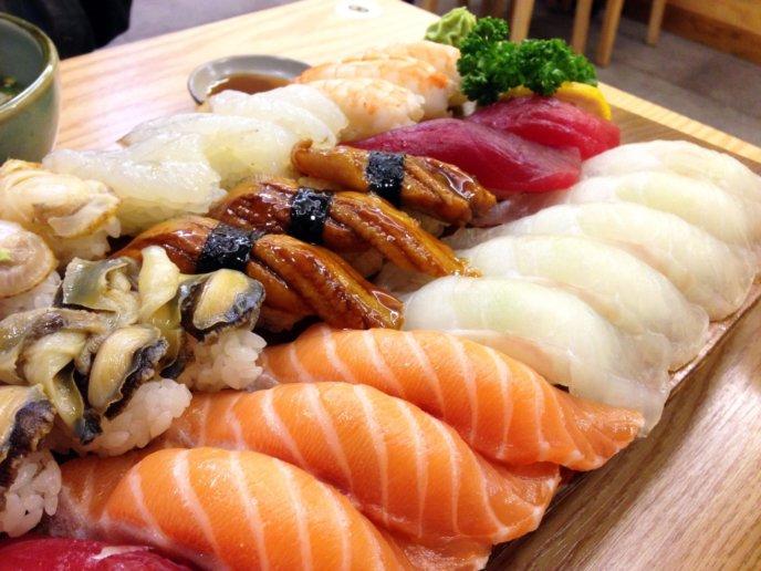 Japanese Food Hokkaido Seafood Sushi Platter