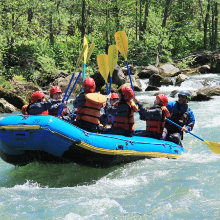 Summer Rafting in Niseko
