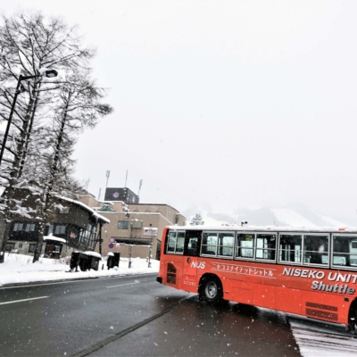Niseko United Shuttle Bus in action