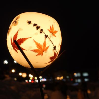 Otaru Snow Light Path 2017 Japanese Maple Lanterns And The City Lights