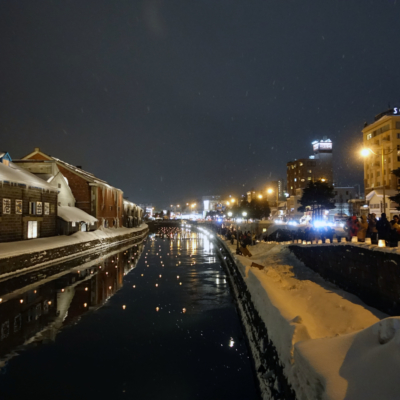 Otaru Snow Light Path 2017 Candles On The Canal Surface