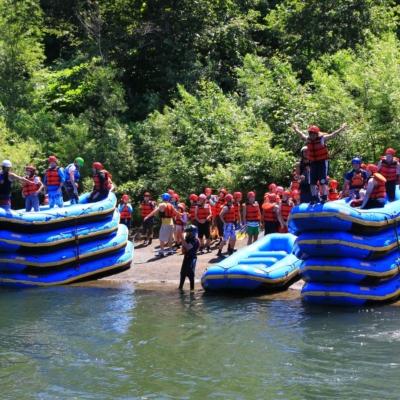 Nac Summer Raft Rafting Big Group 351