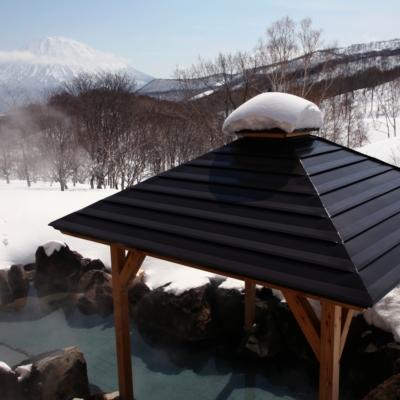 Weiss Hotel Onsen Outdoor Rotenburo Pool Winter 3