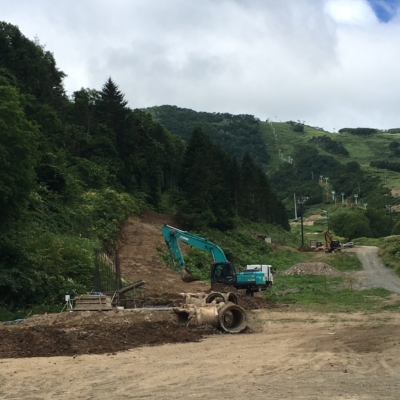 Grand Hirafu Family Lift Construction August 2017