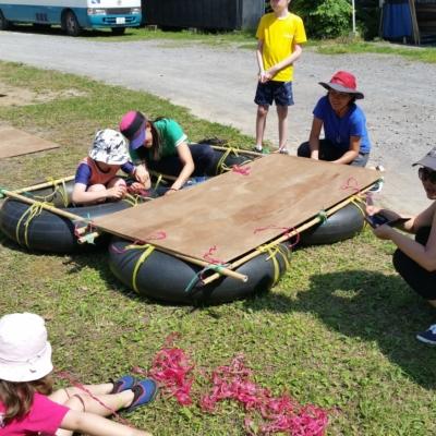 Ed Venture At Bouken Kazoku Making Rafts Summer 2016