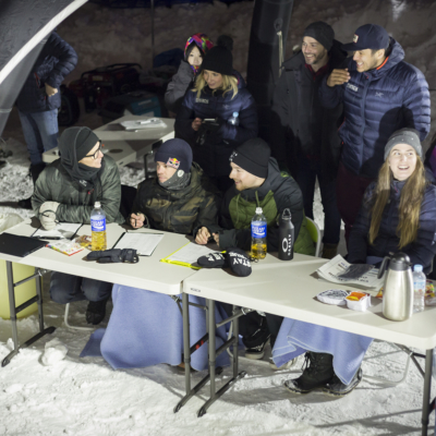 Niseko Rail Jam Judges Table