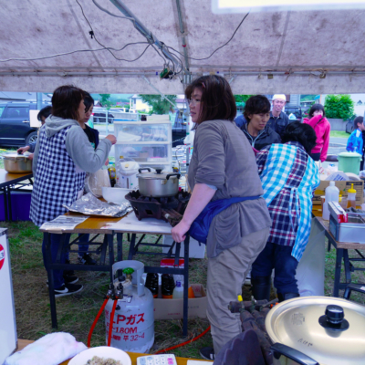Shakotan Soran Mikaku Festival 2018 Preparing Food