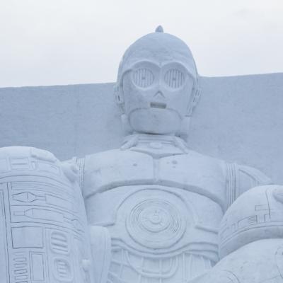 Snow Festival Sapporo Star Wars Statue Driods R2 D2 Bb8 C3 P0 2017 02 06 0110