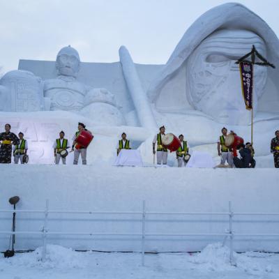 Snow Festival Sapporo Star Wars Statue Okinawan Dancers 2017 02 06 0114