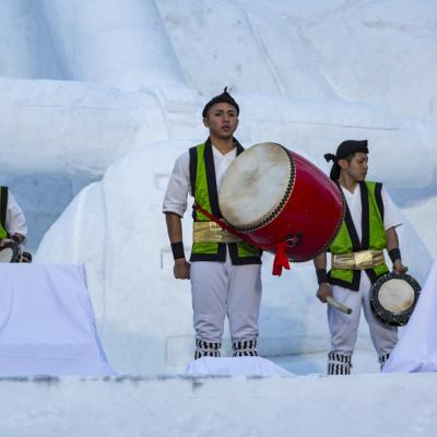 Snow Festival Sapporo Star Wars Statue Okinawan Dancers 2017 02 06 0115