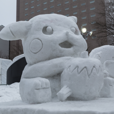 Snow Festival Sapporo Community Section Pikachu 2017 02 06 0146