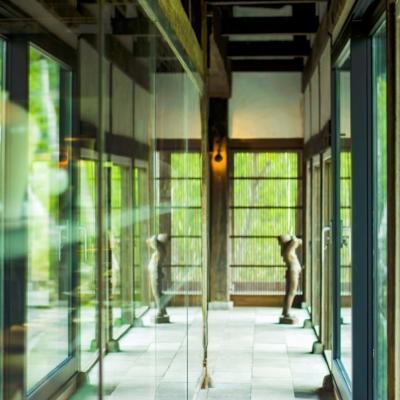 Somoza Engawa Gallery And Dining Hall Glass Shoji Walls Hdr