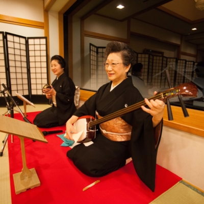 Traditional shamisen performed.