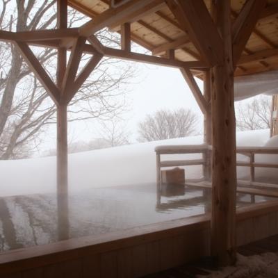 Weiss Hotel Onsen Outdoor Rotenburo Pool Winter 1