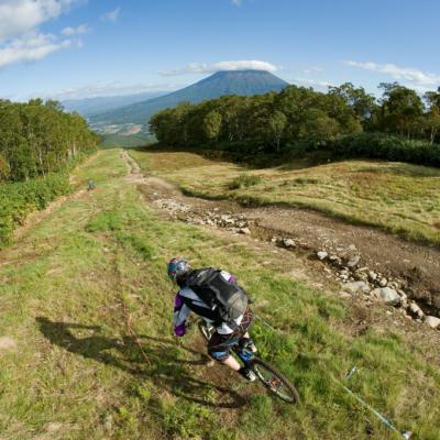 Mountain biking down the slopes