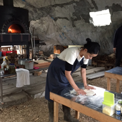 Greenfarm Pizza Making inside the oven