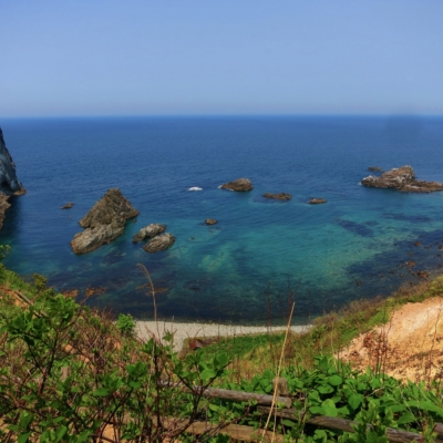 A shot of the Shakotan coastline