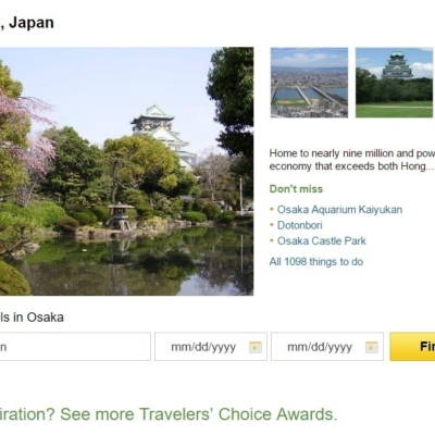 Trip Advisor Top 10 Japan Destinations Osaka
