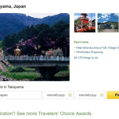 Trip Advisor Top 10 Japan Destinations Takayama