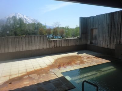 Kutchan Yotei Onsen Outdoor Rotenburo Pool Summer 2
