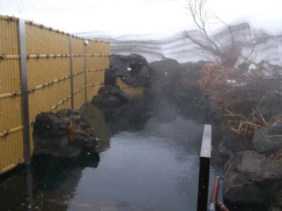Niimi Onsen Winter Rotenburo Outdoor Pool 3