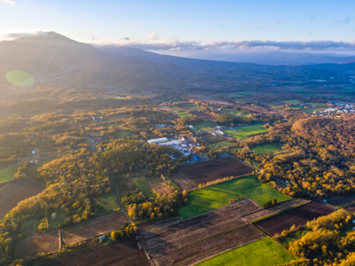 Niseko From Above Ripe For Development Drone Photo Autumn