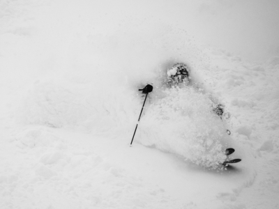 Essex Prescott in deep Niseko powder