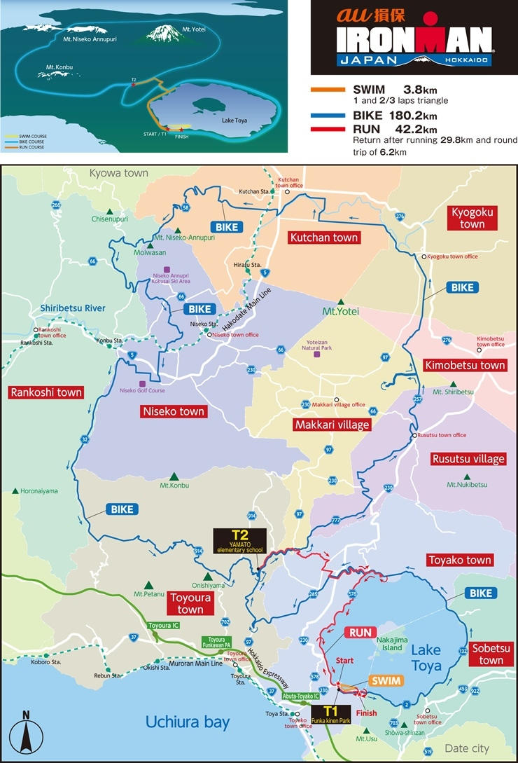 Ironman Japan Map