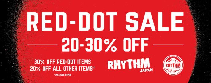 Rhythm Japan Niseko Red Dot Sale Banner