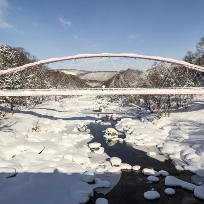 雪に埋もれる橋