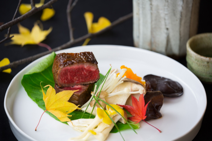 Japanese beef steak at An Dining